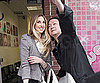 Slide Picture of Whitney Port Posing with Fan in New York