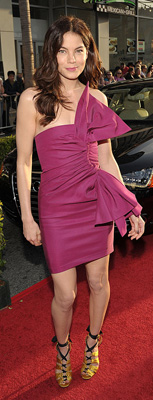 Michelle Monaghan Wears Pink Bow Derek Lam Dress to Iron Man 2 Premiere