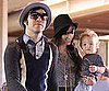 Slide Photo of Ashlee Simpson, Bronx and Pete Wentz Leaving Hawaii