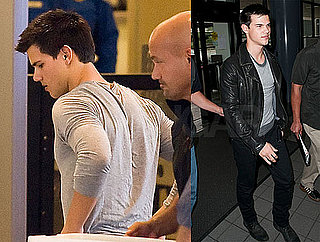 Pictures of Taylor Lautner Leaving LAX With Kristen Stewart to Film Eclipse Reshoots