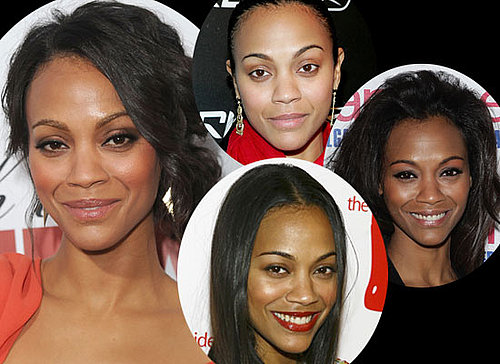 Photos of Zoe Saldana's Hair and Makeup