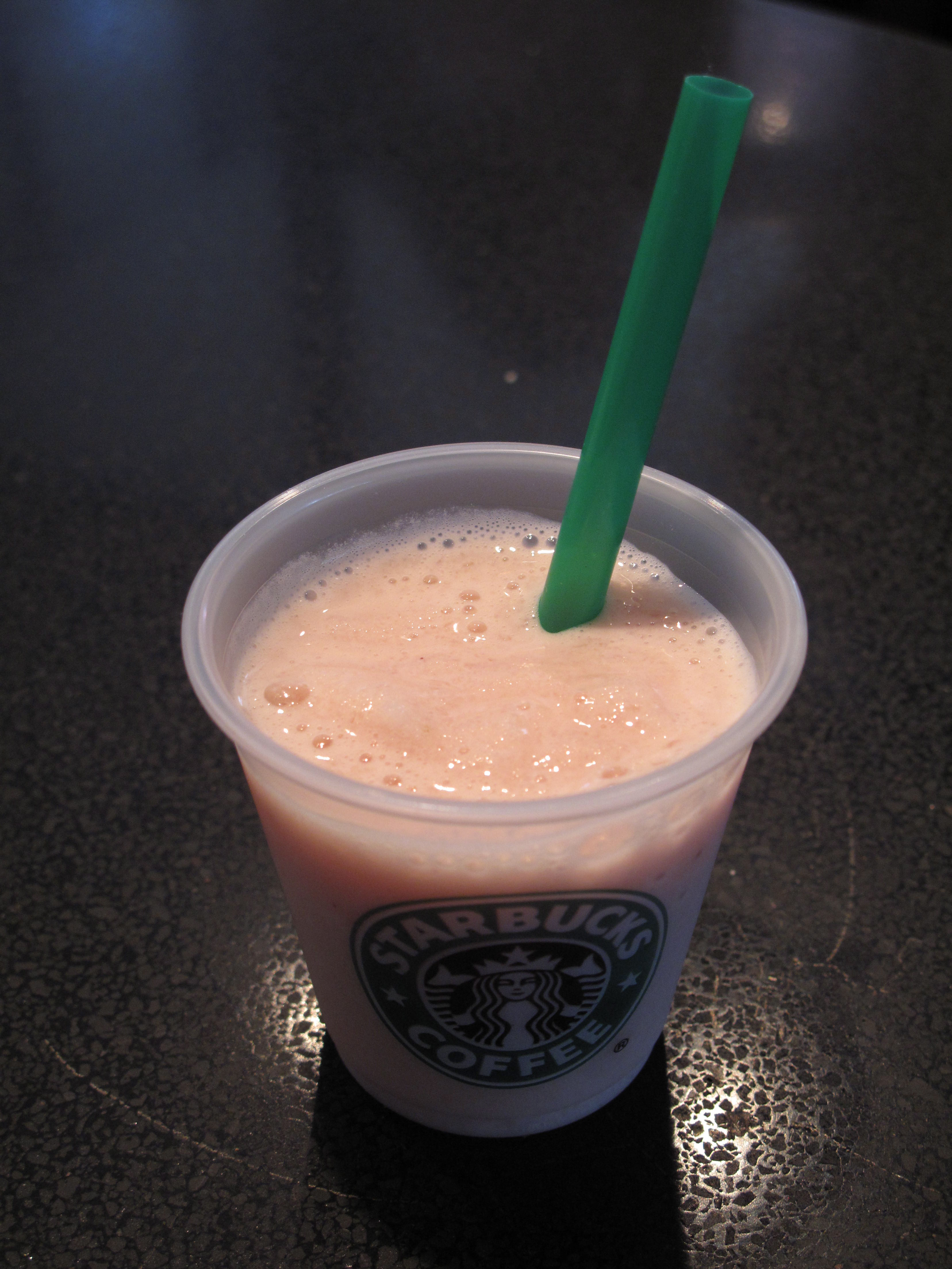 The new Soy Strawberries & Creme Frappuccino.