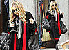 Pictures of Mary-Kate Olsen Wearing a Leopard Jacket