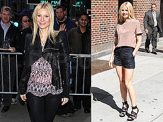 Pictures of Gwyneth Paltrow at The Late Show and Good Morning America in NYC