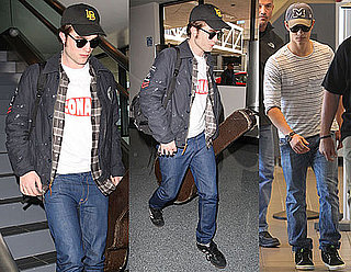 Pictures of Robert Pattinson At LAX After Eclipse Reshoots