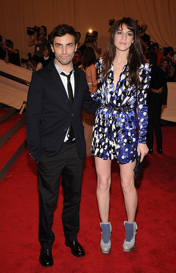 Nicolas Ghesquiere and Charlotte Gainsbourg in Balenciaga