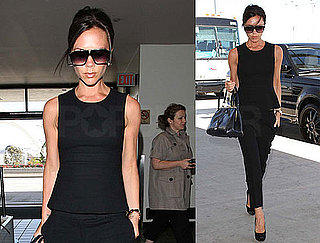 Pictures of Victoria Beckham In All Black at LAX