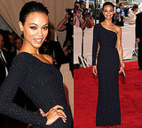 Zoe Saldana Wears Calvin Klein at 2010 Costume Institute Gala