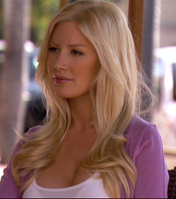 Heidi Montag Wears Purple Cardigan on The Hills