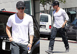 Pictures of Ryan Phillippe Running Errands in White Tee Around LA
