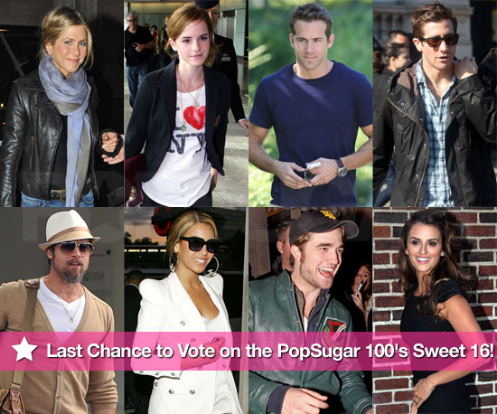 Last Chance to Vote on the PopSugar 100's Sweet 16!