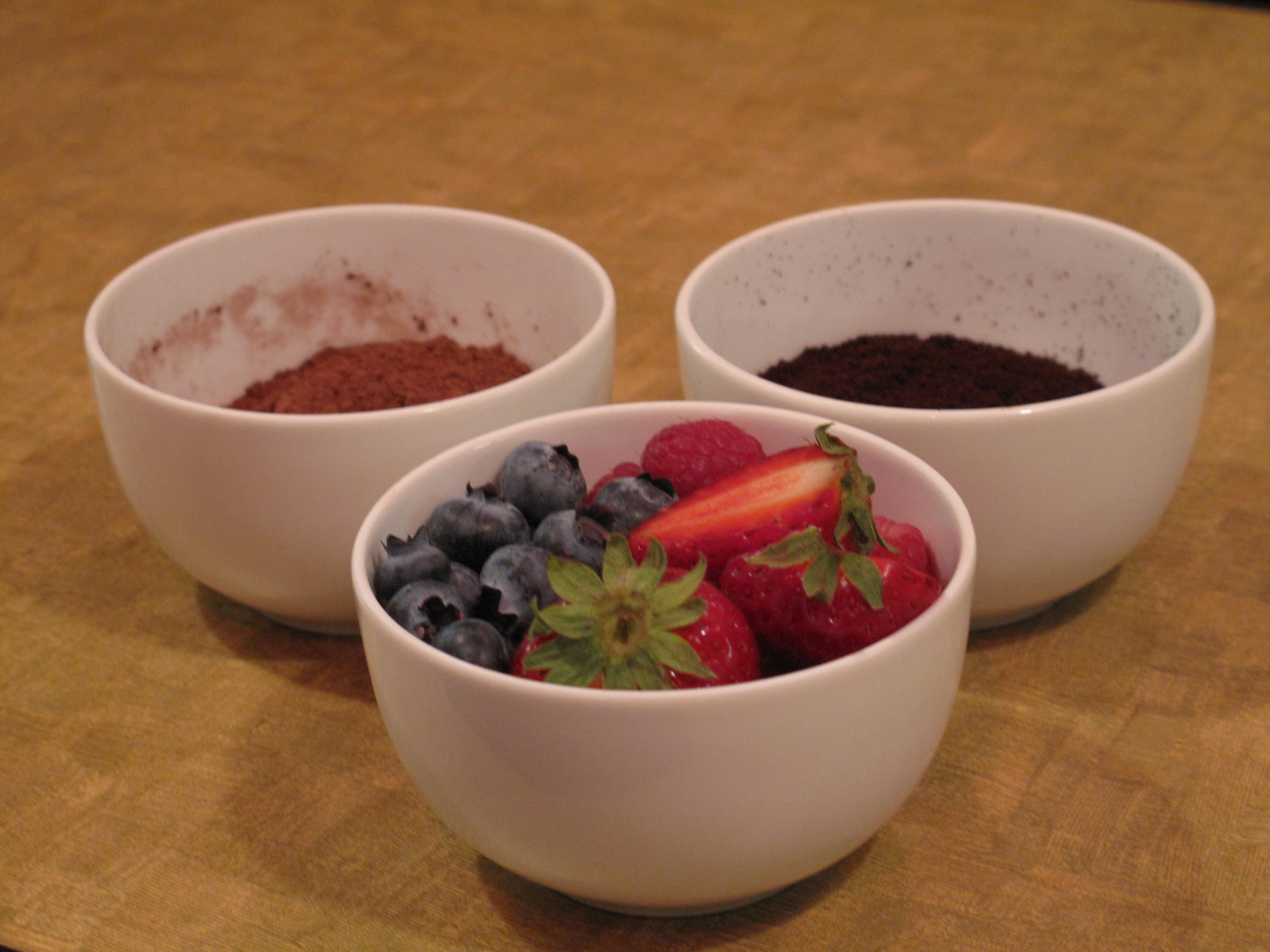 Strawberries and cocoa were the flavor profile for one coffee.