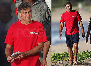 Pictures of George Clooney on His 49th Birthday in Hawaii