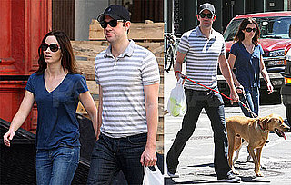 Pictures of John Krasinski And Emily Blunt Walking Their Dogs in NYC