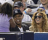Slide Picture of Jay-Z And Beyonce Knowles Watching a Yankees Game in NYC