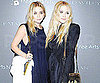 Slide Picture of Mary-Kate Olsen And Ashley Olsen at an Art Party in NYC