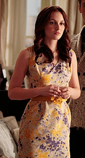 Blair Waldorf in Purple and Yellow Printed Dress on Gossip Girl