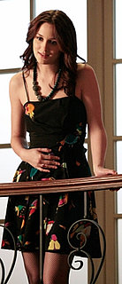 Blair Waldorf in Black Printed Marc Jacobs Dress