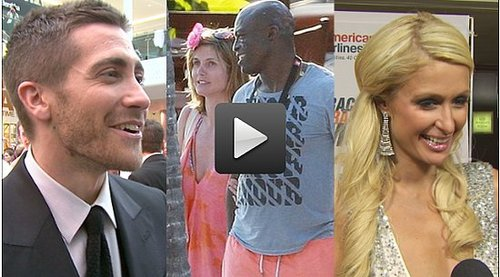 Video of Jake Gyllenhaal at the Prince of Persia Premiere, Heidi Klum and Seal Renew Wedding Vows and Paris Hilton Pets