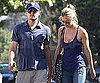 Slide Picture of Leonardo DiCaprio and Bar Refaeli Visiting His Mom on Mother's Day