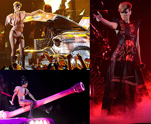 PIctures of Rihanna Live on Stage in Spectacular Costume For UK Birmingham Shows During Her Tour 2010-05-10 08:18:57