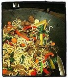 Stir-frying in a Giant Wok