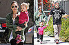 Pictures of Nicole Richie, Harlow, and Joel Madden at Lunch and Ballet Class in LA