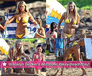 Pictures of Brooklyn Decker in a Bikini Doing Cartwheels