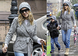 Pictures of Sarah Jessica Parker Bringing Son James Wilkie to School in NYC 2010-05-13 03:00:00