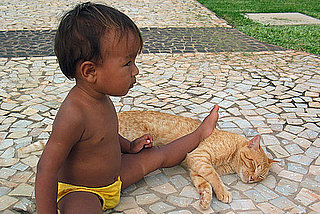 Pictures of Kids and Cats