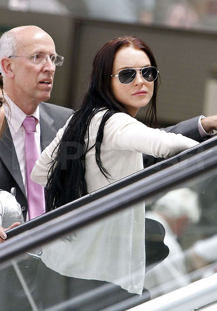 Pictures of Lindsay Lohan Heading Home