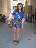 Refinery29 editor Piera Gelardi is quite the mixmaster. She makes me want to dip myself in blue, too!