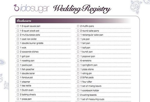 Brides to Be: Download Our Registry Checklist!