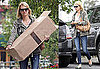 Pictures of January Jones Moving Boxes in LA