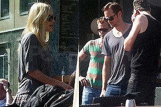 Pictures of Kate Bosworth and Alexander Skarsgard Having Lunch in Stockholm
