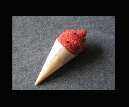 Wash Cloth Ice Cream Cone ($4)