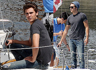Pictures of Zac Efron Sailing in Vancouver For Charlie St. Cloud
