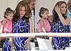 Pictures of Jennifer Lopez, Marc and Emme Anthony Eating Lunch at Eden Roc Hotel