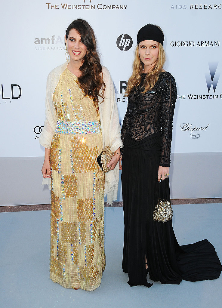 Tatiana Santo Domingo (in Missoni) and Eugenie Niarchos are true fashion girls, both rocking embellished gowns.