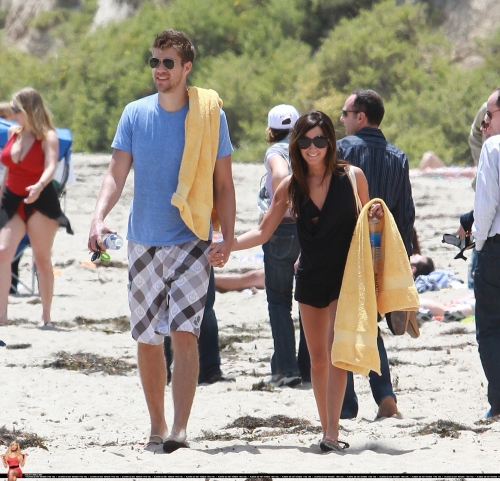 At the beach in Malibu with Scott