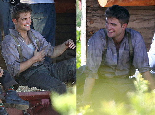 Pictures of Robert Pattinson On a Train Filming Water for Elephants