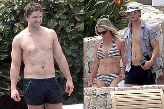 Pictures of Peter Facinelli Shirtless With Wife Jennie Garth in a Bikini on Vacation in Mexico