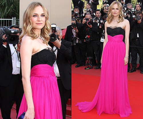 Photos de Diane Kruger en robe rose flashy a la ceremonie de cloture du festival de Cannes