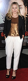 Kristen Bell in Sequined Top and White Pants at Get Him to the Greek Premiere