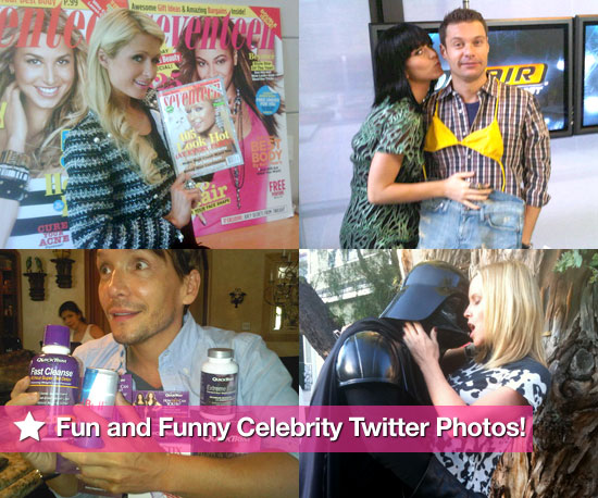 Fun and Funny Celebrity Twitter Photos of Paris Hilton, Ryan Seacrest, Katy Perry, Jenny McCarthy, Tom Hanks and Ashton Kutcher