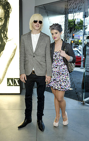 Kelly Osbourne in a flirty look with her fiance, Luke Worrall.