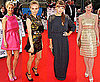 Pictures of Celebrities Women on The Red Carpet at the National Movie Awards in London including Katie Holmes, Gwyneth Paltrow
