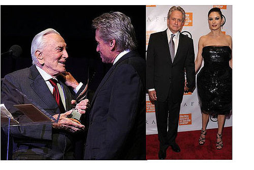 Pictures of Michael Douglas, Catherine Zeta Jones, Tobey Maguire, Ashley Olsen and Justin Bartha in NYC