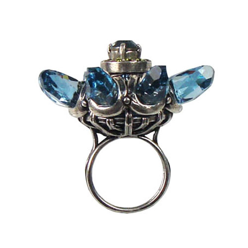 Lanvin Blue Flower Ring ($600)
