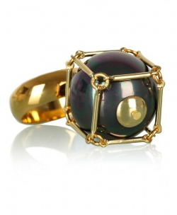 Lucy Hutchings Black Pearl Cube Ring ($134)